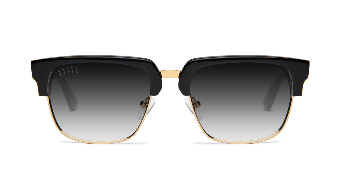 9FIVE Belmont Marble Croc & 24K Gold - Gradient Sunglasses