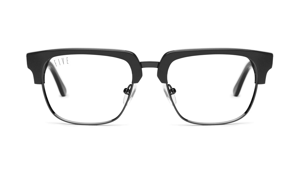 9FIVE Belmont Matte Blackout Clear Lens Glasses Rx