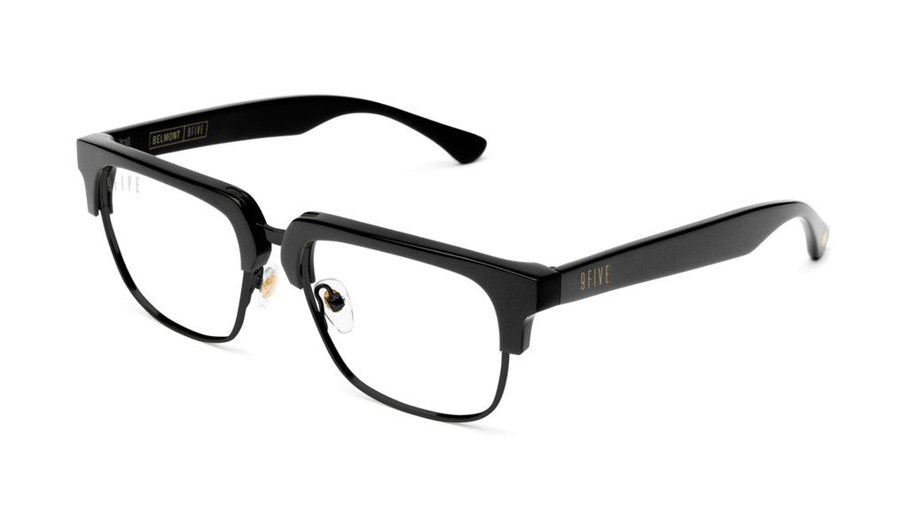9FIVE Belmont Matte Blackout Clear Lens Glasses