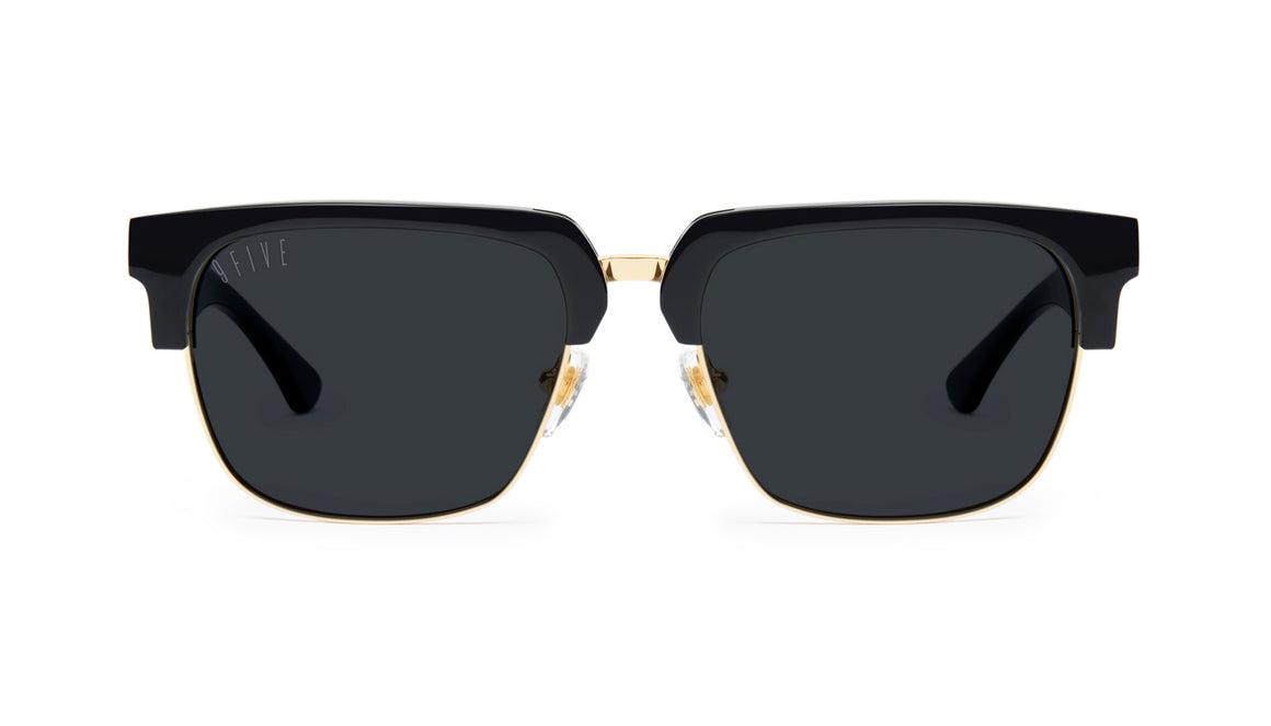 9FIVE Belmont Black and 24K Gold Sunglasses Rx