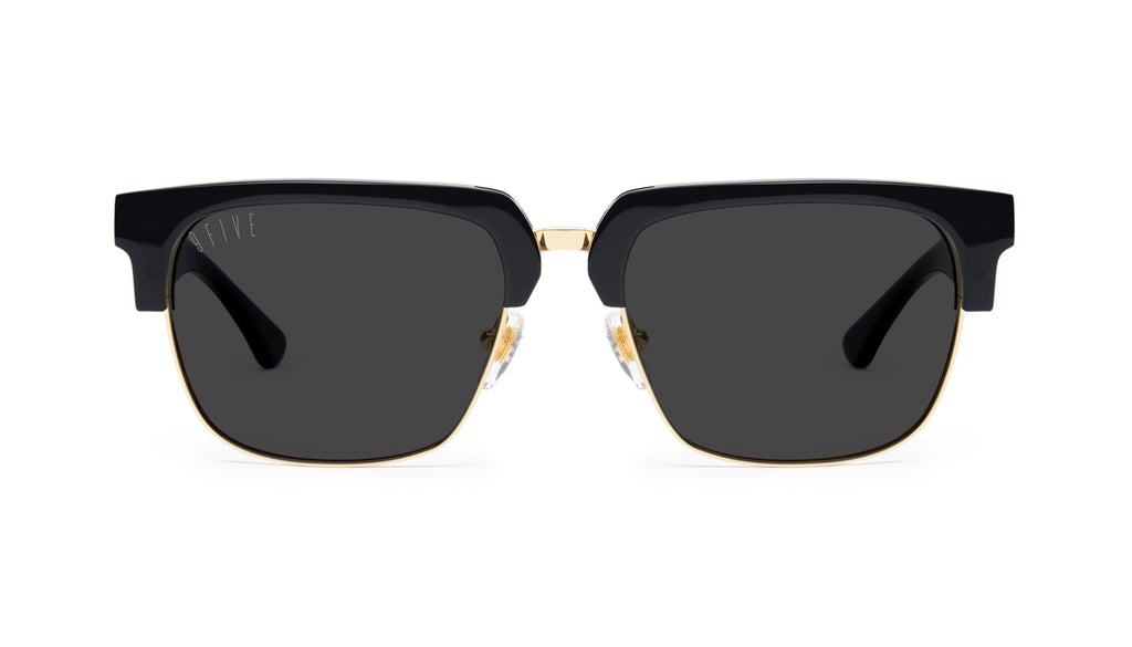 9FIVE Belmont Black & 24K Gold Sunglasses
