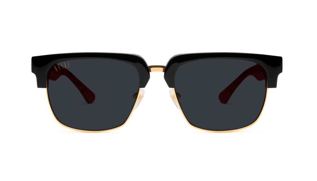 9FIVE Belmont Red Marble & 24K Gold Sunglasses