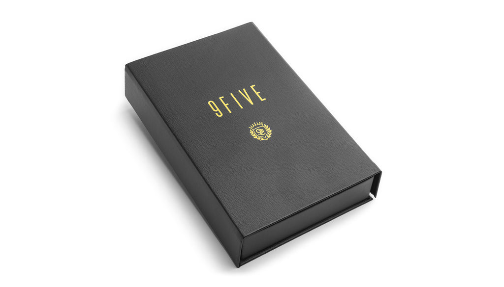 9FIVE Black Leather Bible Case