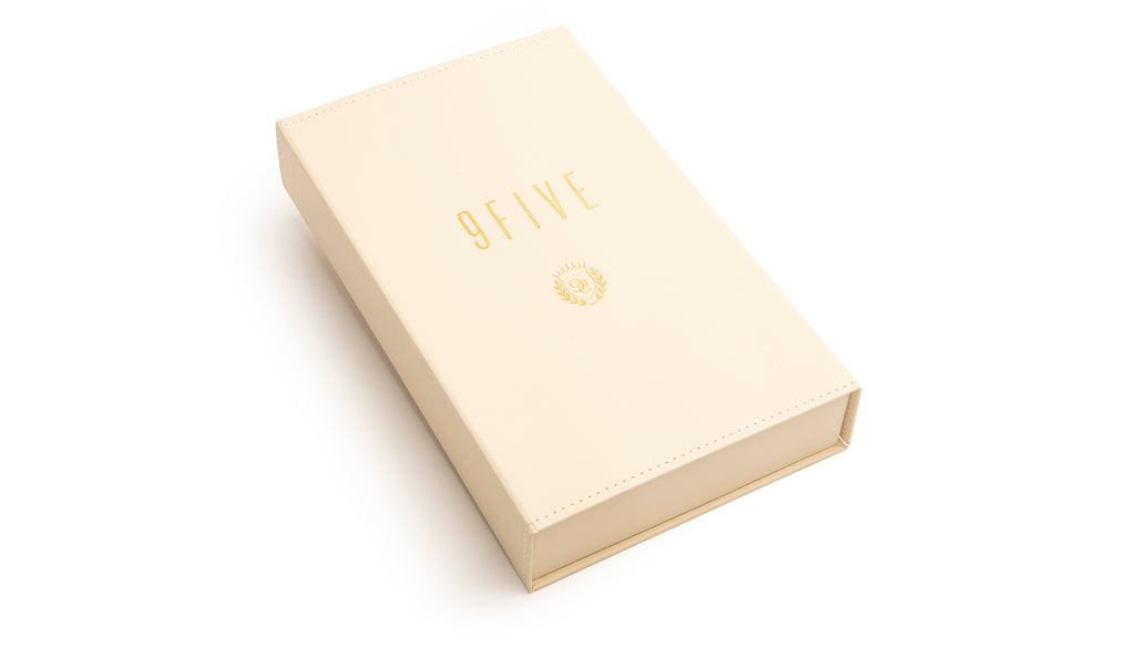 9FIVE Cream Leather Bible Case