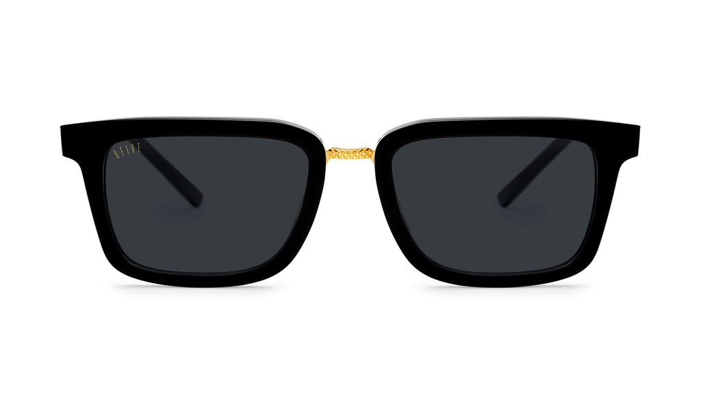 9FIVE Bishop Black and 24K Gold Sunglasses Rx