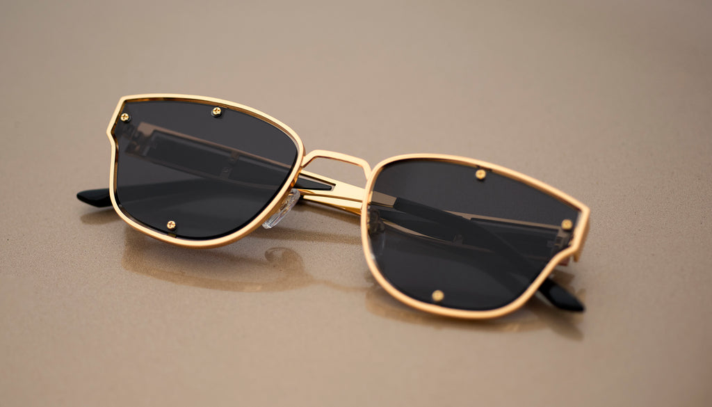9FIVE Orion Black & 24k Gold Sunglasses