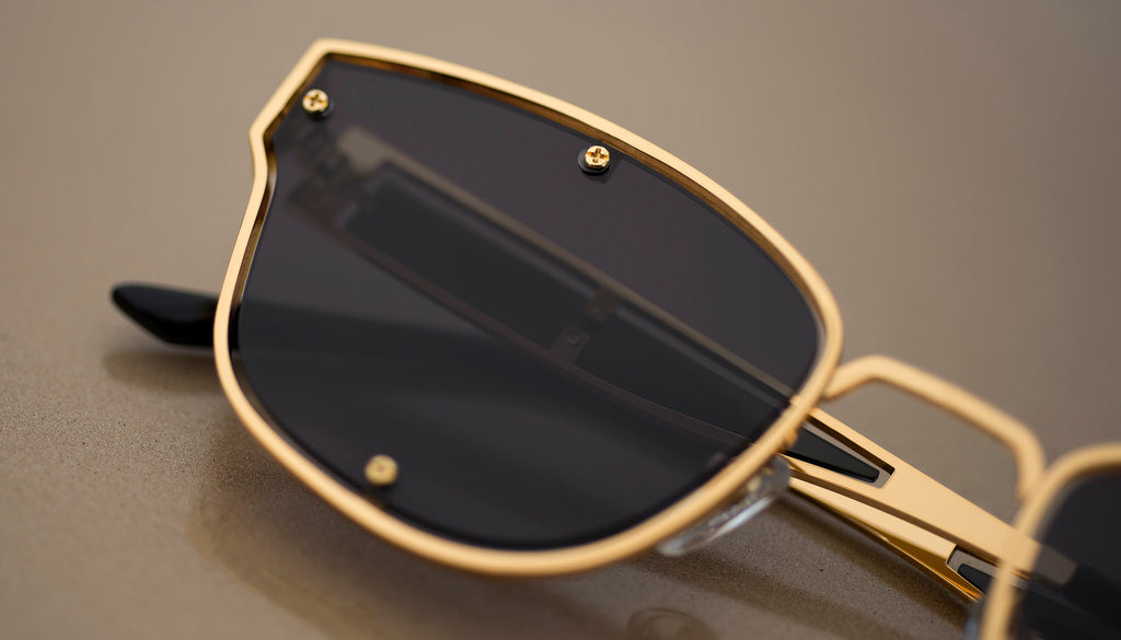 9FIVE Orion Black & 24k Gold - Gradient Sunglasses