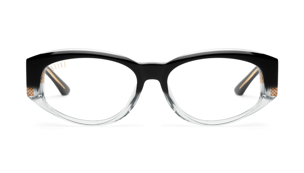 9FIVE Capital Black Fade Clear Lens Glasses Rx
