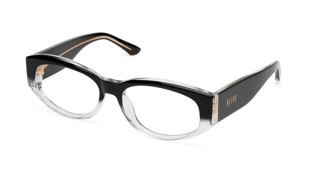9FIVE Capital Black Fade Clear Lens Glasses