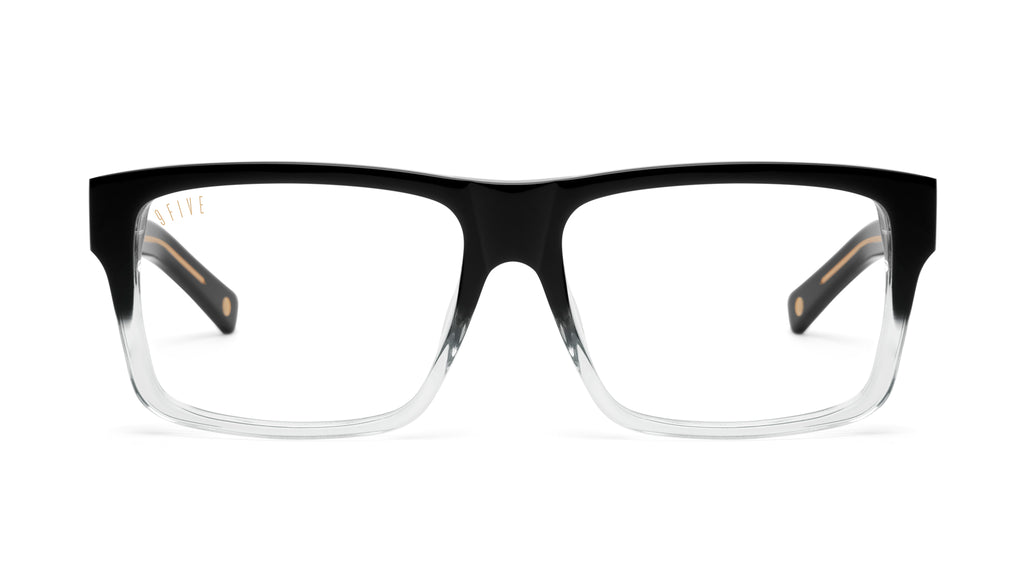 9FIVE Caps Black Fade Clear Lens Glasses Rx