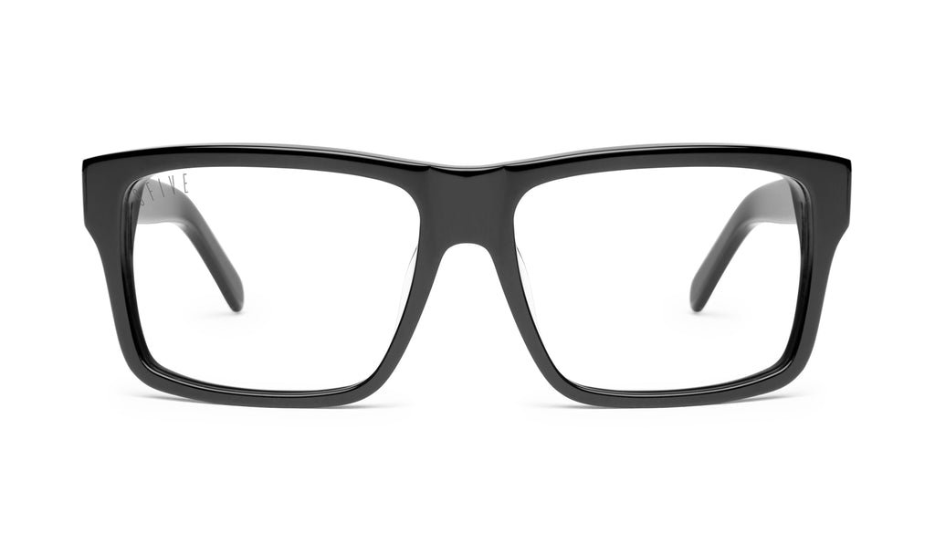 9FIVE Caps Black Clear Lens Glasses Rx