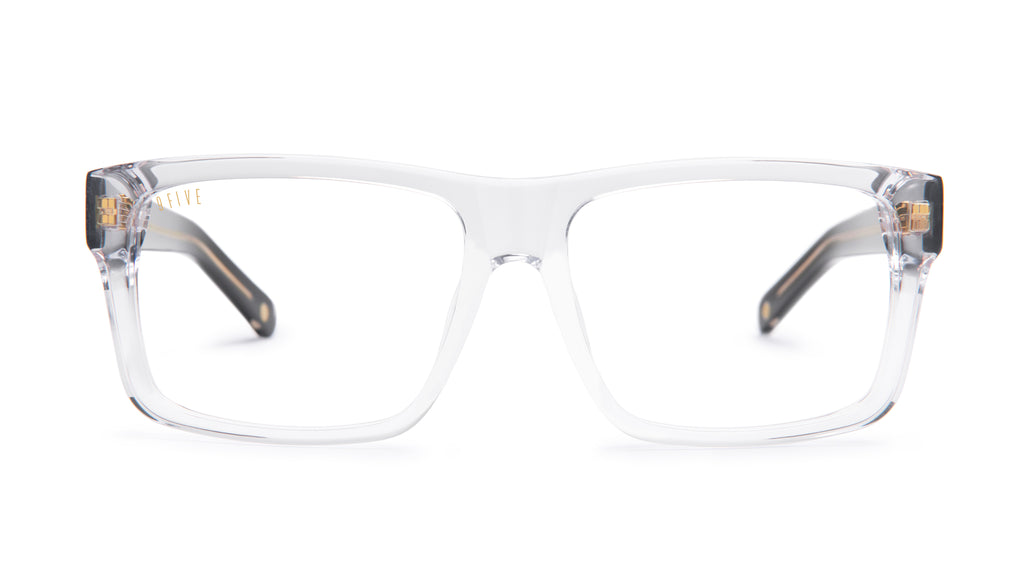 9FIVE Caps Black Ice Clear Lens Glasses