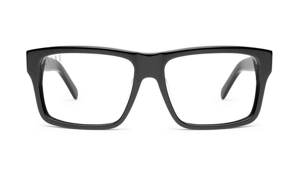9FIVE Caps Matte Blackout Clear Lens Glasses Rx