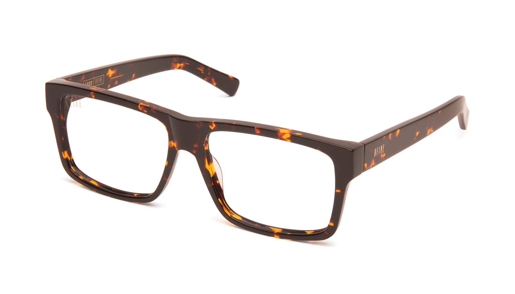 9FIVE Caps Tortoise Clear Lens Glasses Rx