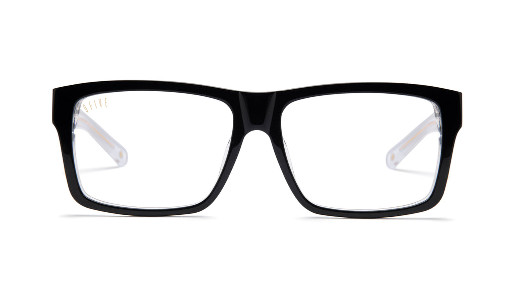 9FIVE Caps Tuxedo Clear Lens Glasses