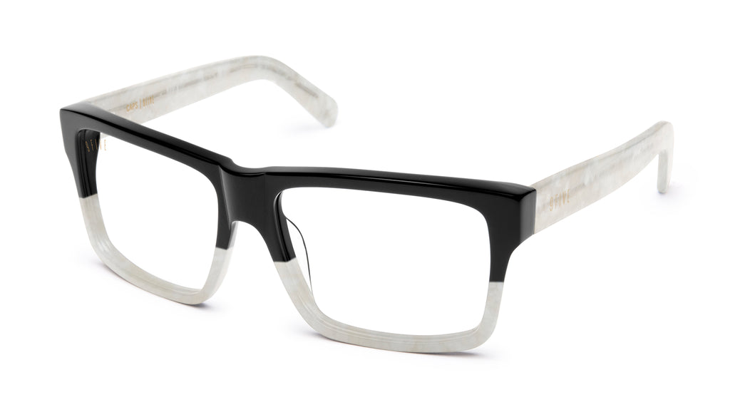 9FIVE Caps Marble Croc Clear Lens Glasses
