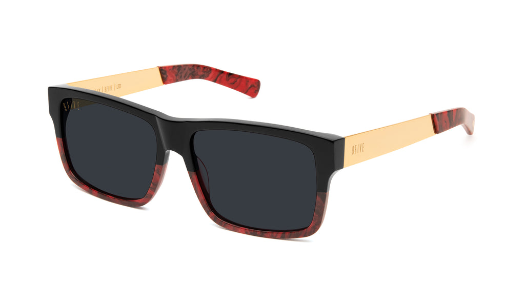 9FIVE Caps LX Red Marble & 24k Gold Sunglasses