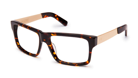 9FIVE Caps LX Tortoise Clear Lens Glasses