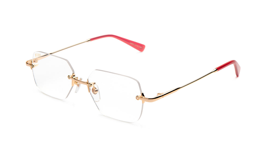 9FIVE Clarity Red Eye Clear Lens Glasses
