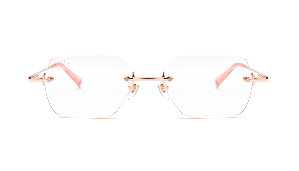 9FIVE Clarity Rose Gold Clear Lens Glasses