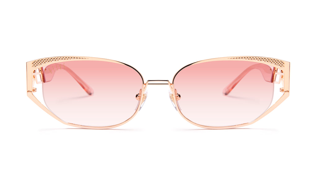 9FIVE Cross Rose Gold - Rose Gradient Sunglasses