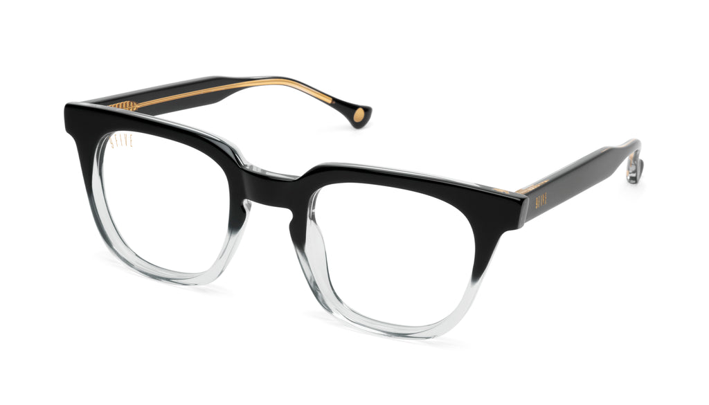 9FIVE Dean Black Fade Clear Lens Glasses