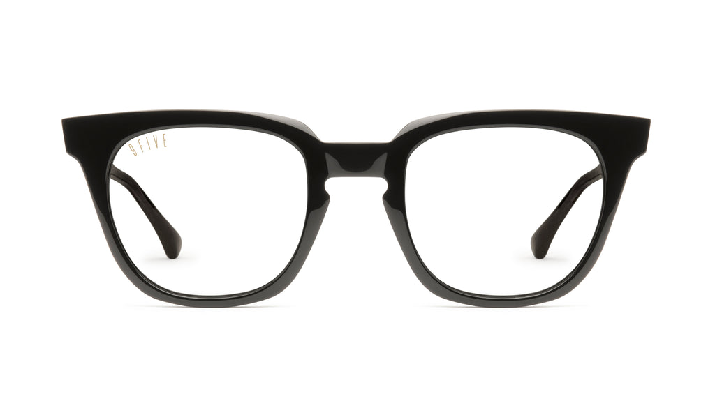9FIVE Dean Black Clear Lens Glasses Rx