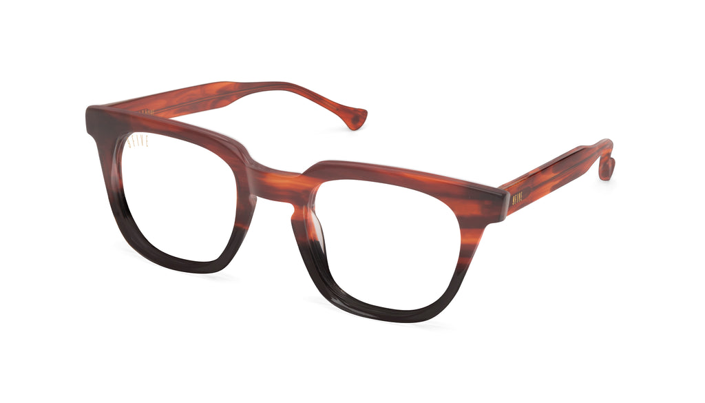 9FIVE Dean Havana Clear Lens Glasses