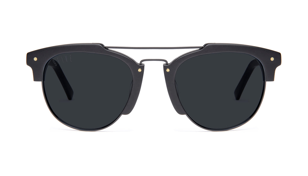 9FIVE Del Rey Matte Blackout Sunglasses