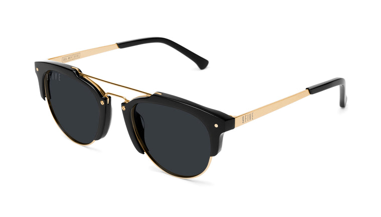 9FIVE Del Rey Black & 24K Gold Sunglasses