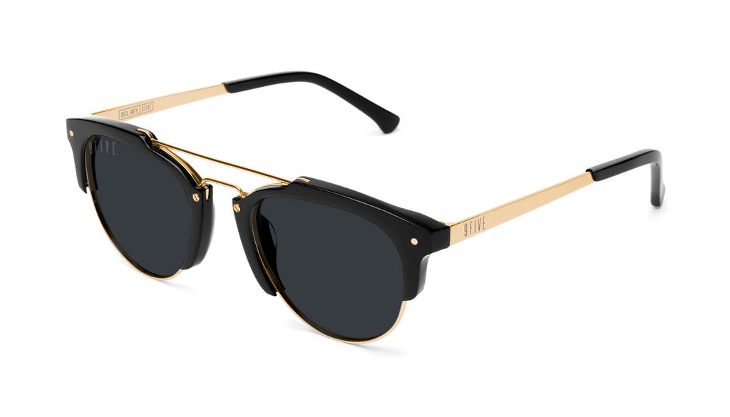 9FIVE Del Rey Black & 24K Gold Sunglasses Rx