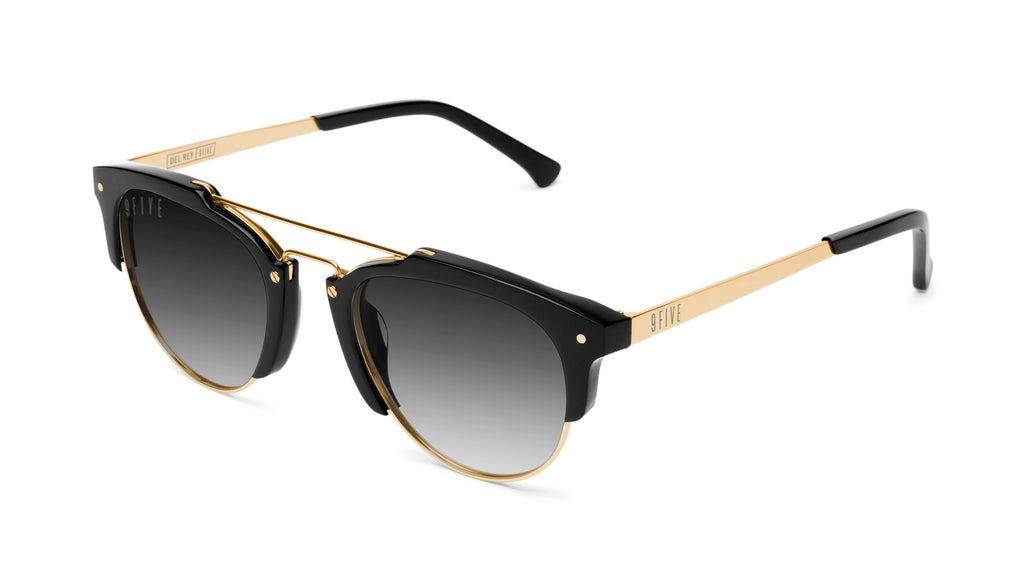 9FIVE Del Rey Black & 24K Gold - Gradient Sunglasses