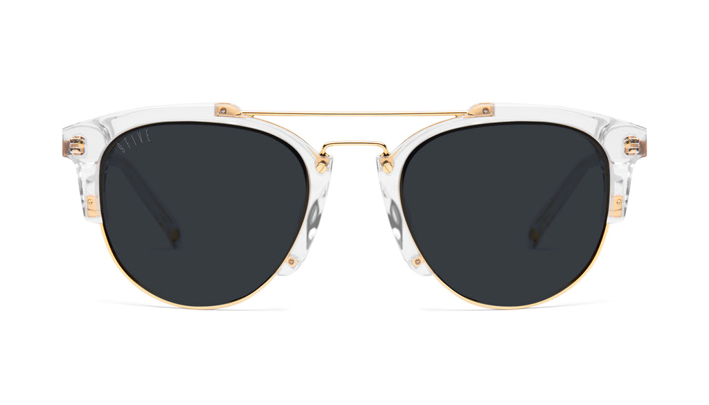 9FIVE Del Rey Crystal & 24K Gold Sunglasses