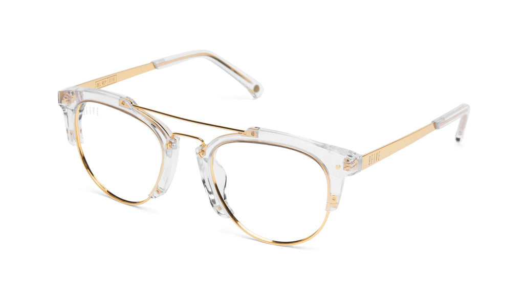 9FIVE Del Rey Crystal x 24K Gold Clear Lens Glasses Rx9FIVE Del Rey Crystal & 24K Gold Clear Lens Glasses Rx