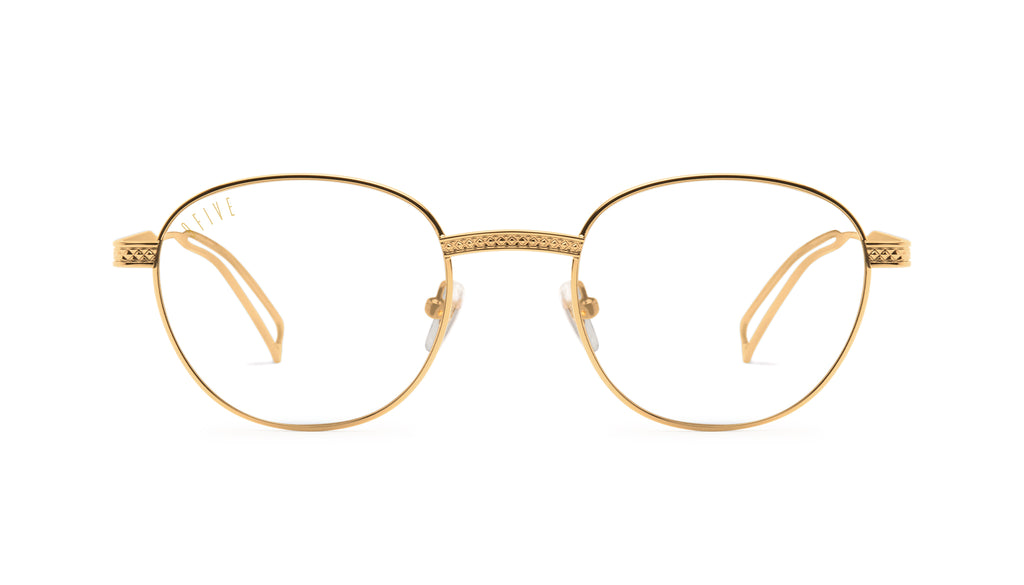 9FIVE Dime 24k Gold Clear Lens Glasses