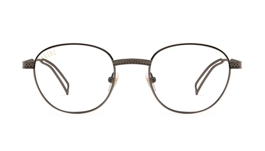 9FIVE Dime Gun Metal Clear Lens Glasses