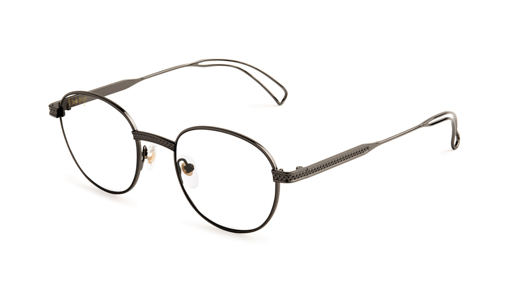 9FIVE Dime Gun Metal Clear Lens Glasses Rx