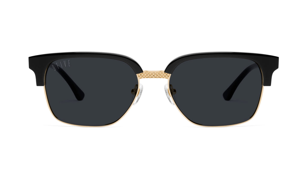 9FIVE Estate Black & 24k Gold Sunglasses