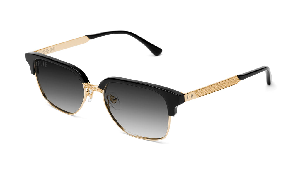 9FIVE Estate Black & 24k Gold - Gradient Sunglasses