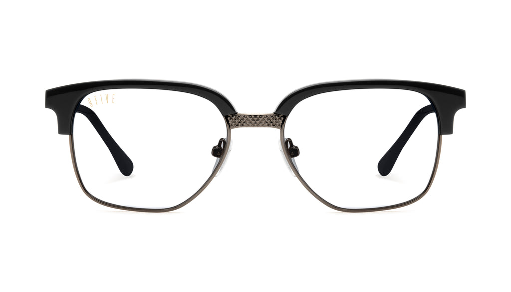 9FIVE Estate Gun Metal Clear Lens Glasses