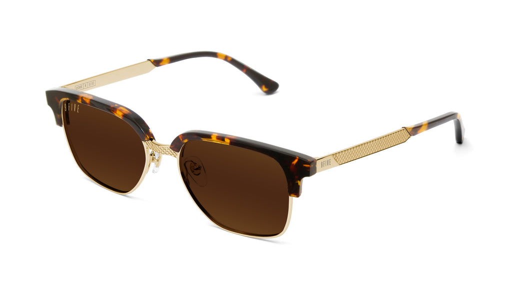 9FIVE Estate Tortoise & 24k Gold Sunglasses