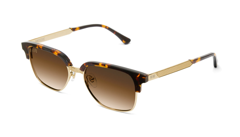 9FIVE Estate Tortoise & 24k Gold - Gradient Sunglasses