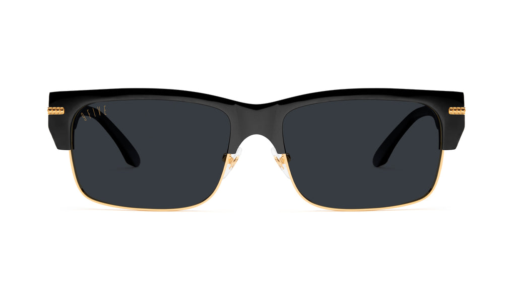 9FIVE Greens LX Black & 24K Gold Sunglasses