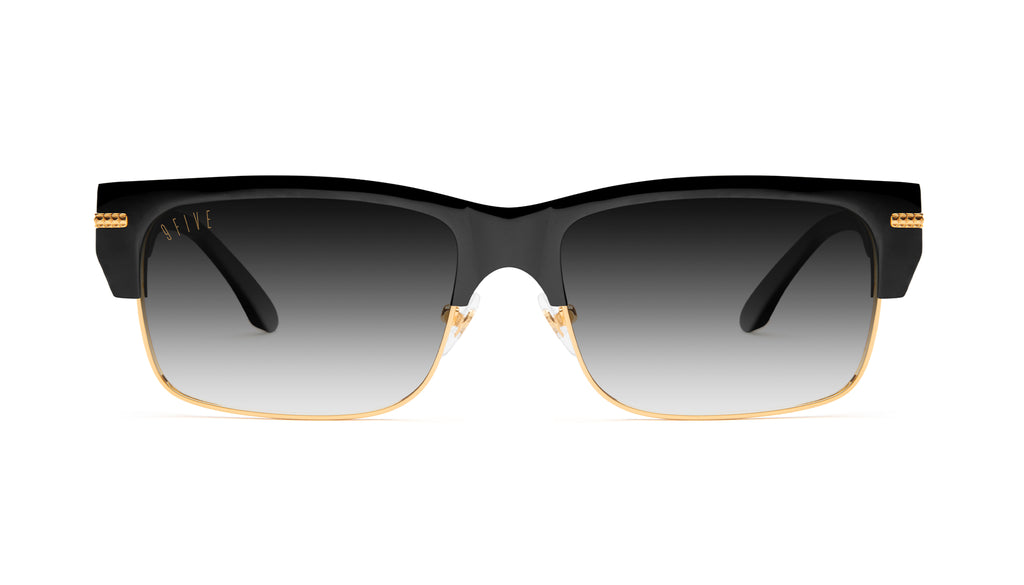 9FIVE Greens LX Black & 24K Gold - Gradient Sunglasses