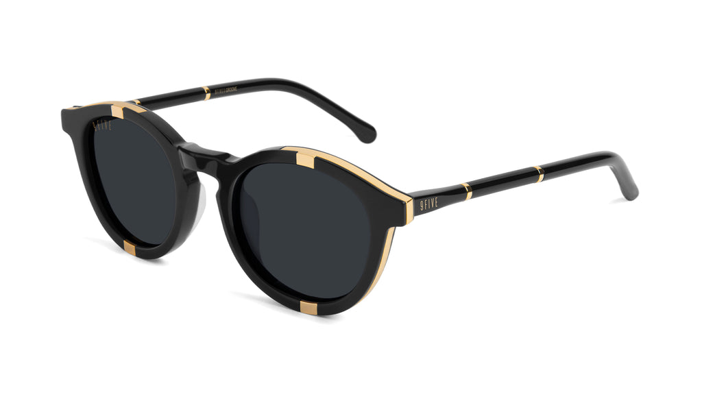 9FIVE Groove Black & 24k Gold Sunglasses Rx