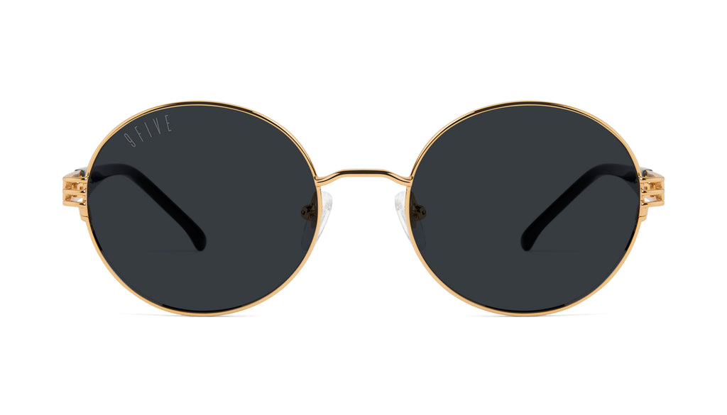 9FIVE Iris Black & 24K Gold Sunglasses Rx