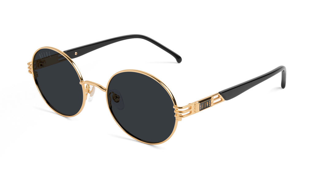 9FIVE Iris Black & 24K Gold Sunglasses