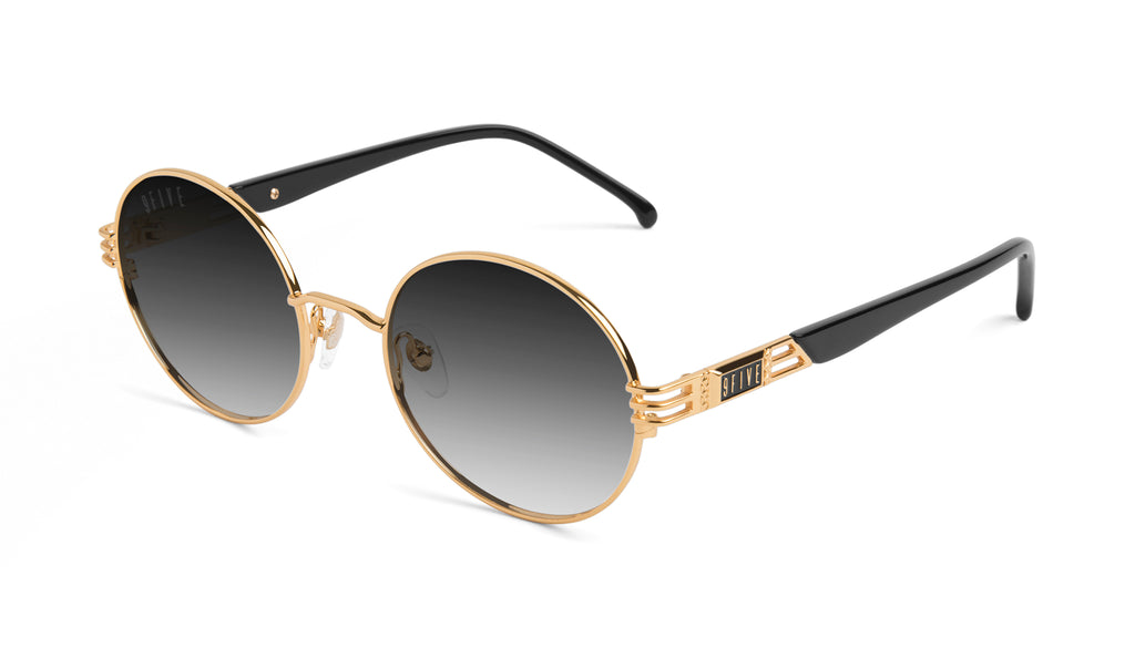 9FIVE Iris Black & 24K Gold - Gradient Sunglasses