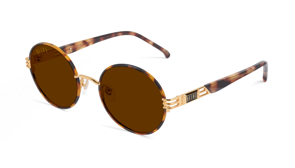 9FIVE Iris Tortoise & 24K Gold Sunglasses Rx