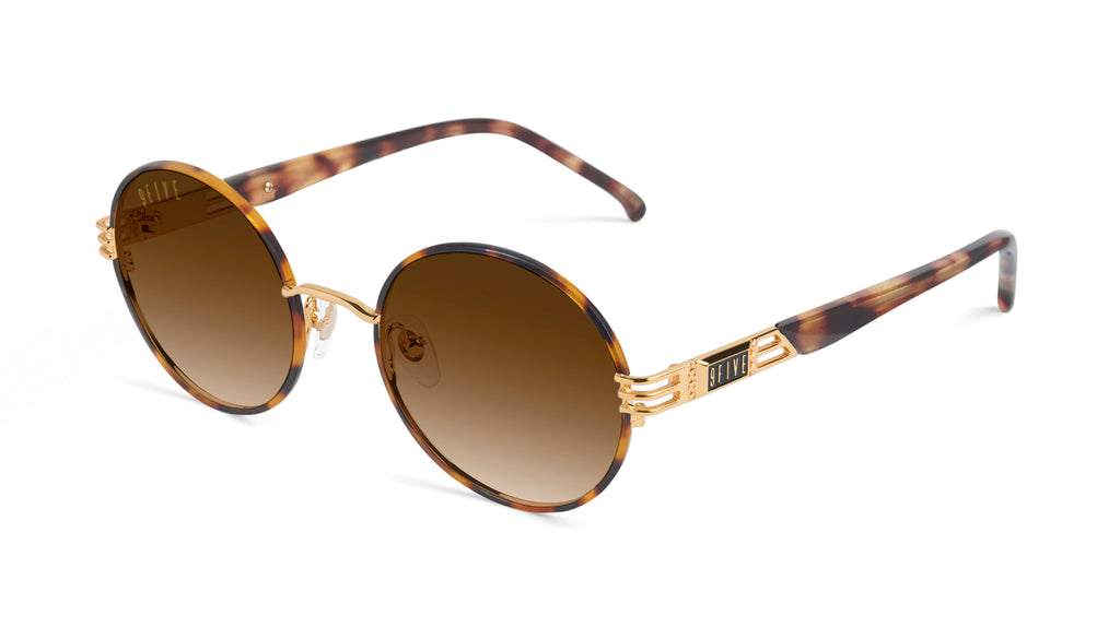 9FIVE Iris Tortoise & 24K Gold - Gradient Sunglasses